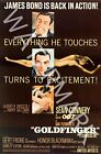 Goldfinger - 1964 Sean Connery - James Bond Movie Poster $32.24 USD on eBay