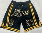 KOBE BRYANT Los Angeles Lakers Black logo shorts all sizes USA on eBay