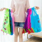 Foldable Cute Strawberry Shopping Bags Reusable Nylon Storage Pack Large Handbag