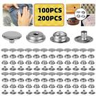 200X Snap Fastener Kit Stainless Steel Boat Canvas Screw Press Stud Cover Button