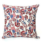 "17"" Canvas Fla Star Lip Throw Pillow Case Sofa Car Cushion Cover Home Decor"