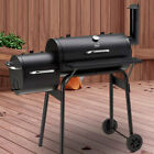 Neo Large Barrel Smoker Barbecue BBQ Outdoor Charcoal Portable Grill Garden Drum