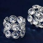 Faux SILVER Crystal Beaded Design NAPKIN RINGS Wedding Party Kitchen Decorations