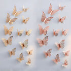 12pcs 3d Butterfly Wall Stickers Metallic Art Decals Home Room Decorations Decor