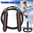Gym Aerobic Exercise Boxing Skipping Jump Rope Speed Fitness Workout Adjustable