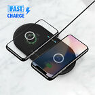 Dual Positions Fast Wireless Charger Charging Pad Mat for Samsung S9 S8 Note 9