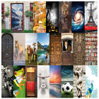 3d Wall Art Pretty Landscape Animals Door Sticker Decal Self-adhesive Wrap Mural