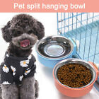 Dog Bowl Removable Stainless Steel Hanging Pet Cage Bowl Food Water Feeder Cage