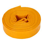 PVC Layflat Water Delivery Hose Flexible Discharge Irrigation Pipe 10-50m Yellow