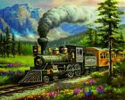 Train Rockland Express Trains Artwork Paint By Numbers Kit Painting