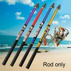 Fishing Rod Spinning Telescopic Pole Full Combo Travel Strong Portable 1 N5X8
