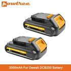 Powtree 20V 3000mAh DCB200 Li-ion Rechargeable Power Tool Battery For DEWALT