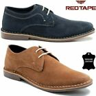 Mens Leather Shoes Casual Lace Up Smart Work Office Formal Gibson Desert Shoes