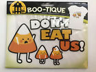 """BOO-TIQUE Halloween Patch/iron on transfer """"Please don't eat us"""" candy corn New"""