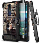 For Nokia 3.1 Plus Phone Case Holster Belt Clip Cover + Tempered Glass Protector