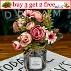 1 Bunch Rustic Retro Tea Rose Wedding Home Decor Flower Artificial Flowers