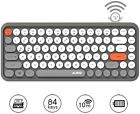 2.4G Wireless Bluetooth keyboard 84 keys Round Keycap for Games and typists 308i