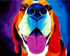 Happy Colorful Dog Painting Art Artwork Paint By Numbers Kit DIY