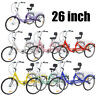 """Adult Tricycle 26"""" 7Speed 3Wheel Cruise Bike Seat Adjustable W/Bell Brake System"""