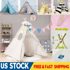 Large Teepee Tent Cotton Canvas Children's Tent Kids Play House Girls Room Decor