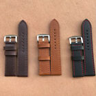 Unisex Genuine Leather Watch Strap Band Replacement Pin Buckle Belt 18/20/22/24