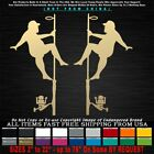Fishing Redneck Pole Dancer Mud Flap Boat Lures Sticker Decal