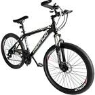 "Folding Mountain Bike 26"" Full Suspension Bicycle 21 Speed MTB Mens bikes"