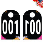 100 Live Sale Plastic Number Tags Pastel Watercolor Design Numbers 001-100