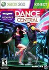 XBOX 360 Kinect Dance Central Video Game Microsoft Harmonix 2010 with Manual