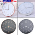 12 Inch Wall Clock Quartz Round Wall Clock Silent Non Ticking Stylish Wall Clock