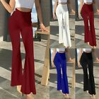 Plus Size Women Palazzo Wide Leg High Waist Loose Fit Casual Pants Yoga Trousers