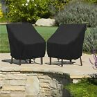 Waterproof Stacking Chair Cover High Back Outdoor Patio Garden Furniture Covers