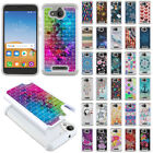 For Alcatel Tetra 5 inch Design Bling Hybrid Hard Rubber Silicone Case Cover