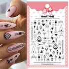 3D Nail Stickers Geometric Transfer Decals Decoration Nail Art Accessories Paper