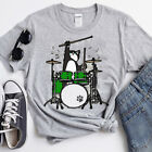 Funny Cat Playing Drums Unisex T-shirt
