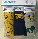 New Carter's 3 Pairs Underwear Boy Briefs 2T 3T 4T 5T 6 7 8 Year Dump Trucks