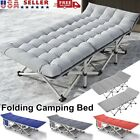 Widen Folding Camping Bed Military Cot Sleeping Bed w/ Soft Mattress  Carry Bag