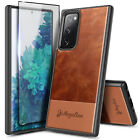 For Samsung Galaxy S20 FE 5G Phone Case, Shockproof Leather with Tempered Glass