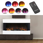 Electric Fireplace Heater Wall Mount Multi Flame Surround Stand 2KW Wifi Remote