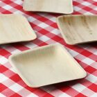 """PALM LEAF 6"""" Square Cake PLATES Eco Friendly Wedding Party Disposable TABLEWARE"""