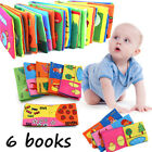 6 Pcs Books Baby Intelligence Development Soft Cloth Cognize Early Education Toy