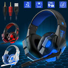 3.5mm Gaming Headset Mic LED Headphone Stereo Bass Surround for PS5 PS4 Xbox One