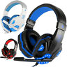 3.5mm Gaming Headset Mic LED Headphone Stereo Bass Surround for PS4 Xbox One PC