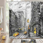 New York Street Couple Shower Curtain Bathroom Decor Fabric 12hooks 71in
