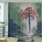 Lonely Flying Mangrove In Canyon Shower Curtain Bathroom Decor Fabric 12hooks