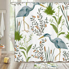 Waterfowl Foraging Shower Curtain Bathroom Decor Fabric 12hooks 71in