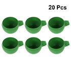 20pcs Pigeon Feeding Bowl Feeding Food Basin Round Birds Food Container Water Cu
