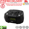 AM FM Stereo Dual Alarm Clock Radio With CD Player Digital Tuner And Aux Input