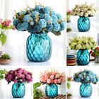 10 Heads Hydrangea Bunch Artificial Flower Home Wedding Decor Bouquet Floral