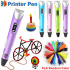 3D Printing Pen Crafting Drawing Arts Printer Tool Modeling ABS PLA Filament USA